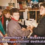 Hoppárézimi első nyilvános dedikálásán a Moszkva téren. Fezó, Palus, I.K., Z.Z. és Nulli 1987-ben