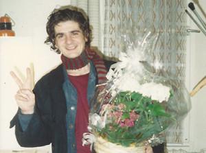 1990 Ternyák Zoli csokorral.1